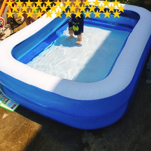 大型プール 子たちは楽しい 親は…準備と片付けが大変!