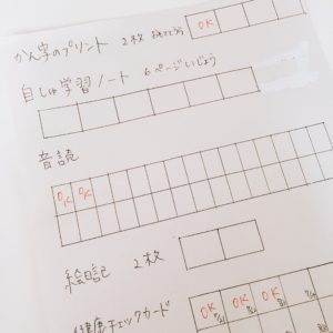 夏休みの宿題