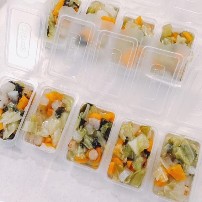 離乳食は手作りの冷凍食品 取り分けできないときに便利で手抜きもできる