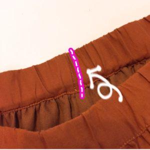 ウエストがゆるい…ゴム替え口のないズボンやスカートのウエストを直す